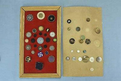 Antique Vintage MIXED LOT of 46 CLOTH BEADED MISCELLANEOUS DESIGN BUTTONS #05691