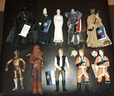 Star Wars 1995 Applause 11-Figure Lot Vader Chewbacca C3PO Solo Skywalker R2D2