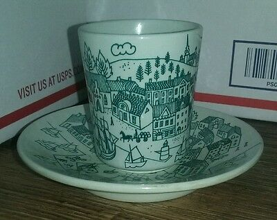 Vintage NYMOLLE Cup and Saucer by Paul Hoyrup Made in Denmark 1950's SALE