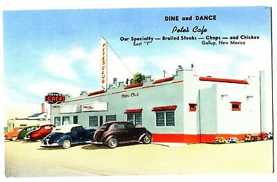 ROUTE 66-ROADSIDE PETE'S CAFE GALLUP,NM--STEAKS CHOPS-CHICKEN~OLD CARS~RARE c