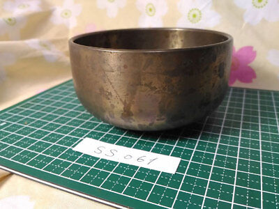 "SAHARI 3.583"" Japanese Vintage Buddhist Bell SS061 Long and Short Wave"