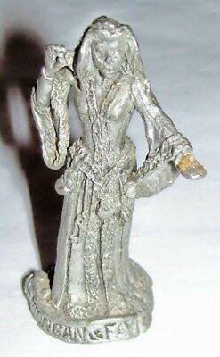 1986 Gallo Pewter miniature figure : enchantress witch Morgan Le Fay LeFay