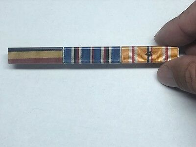 Original WWII Wolf Brown Later Issue Navy/USMC Ribbon Bar!