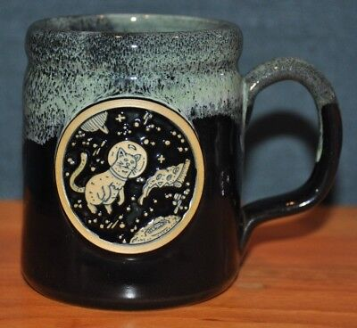 Deneen Pottery Illustrator Series Mug Pizza Space Cat Scotty Russell SIGNED #39