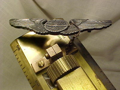 World War Two Ww-Ii Army Air Force Aircraft Navigation Mechanical Tool & Wings