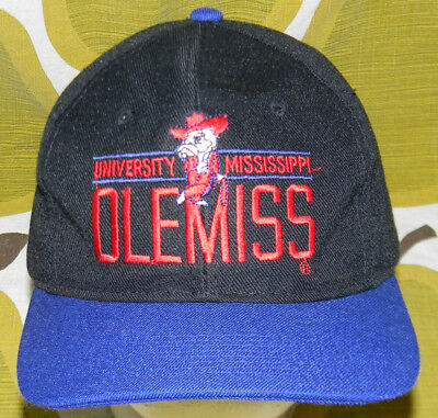 e23ffa03ee67c ... store vtg 90s university of mississippi two tone snapback hat cap ole  miss rebels 7a855 6f4e2