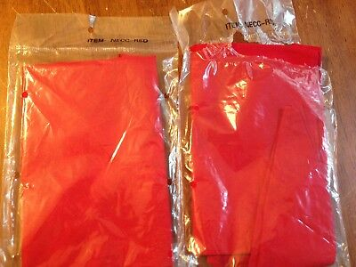 Chef Works Chef Neckerchief (NECC) Red 2 pack BRAND NEW!