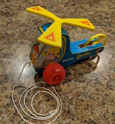 Vintage Fisher Price Toy Mini Copter '70 #448