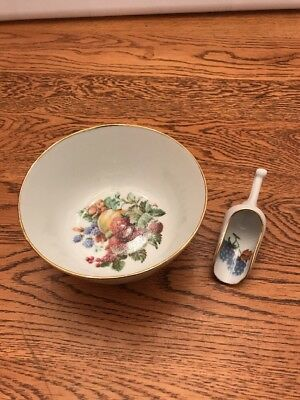 Vintage Lot Of Dish And Scoop With Strawberries, Grapes And Berries