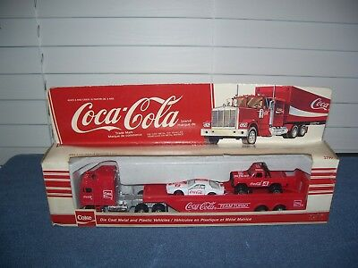 Coke Coca Cola Team Turbo Racing Hauler Die-Cast & Plastic w/ Race Cars