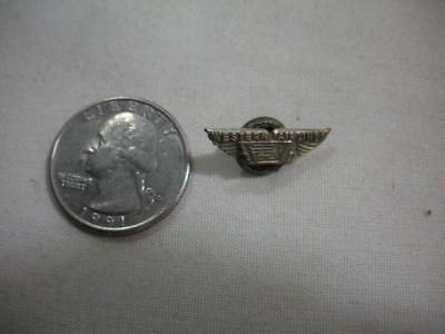 Vintage Western Airlines Brass Lapel Pin / Look!