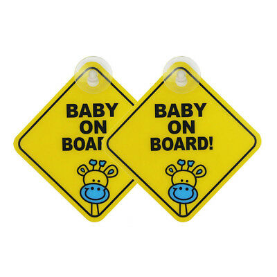 KD_ Baby on Board Car Warning Safety Suction Cup Sticker Waterproof Notice Boa