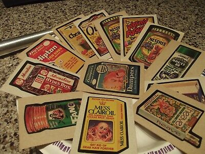 Vintage Topps Wacky Packages ~ Lot of 13