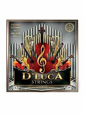 D'Luca Stainless Steel Core Flat Nickel Wound, Ball End Violin String Set 1/8