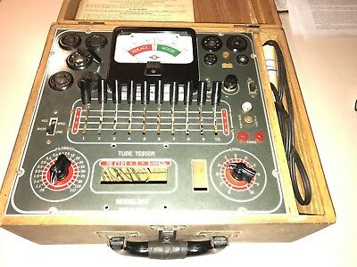 Vintage Superior Instruments Tube Tester TV-11 w/  Instructions Good Condition