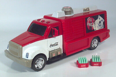 "Matchbox Coca Cola Bottle Beverage Delivery Truck 13"" Scale Model Lights Sound"