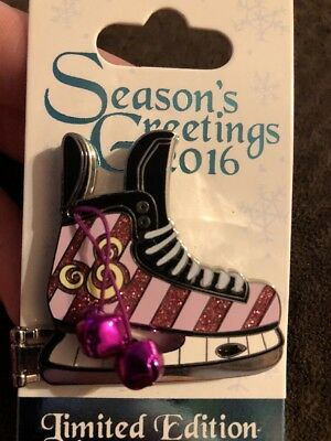 Disney Pin Cheshire Cat Ice Skate Seasons Greetings Limited Edition Pin Alice