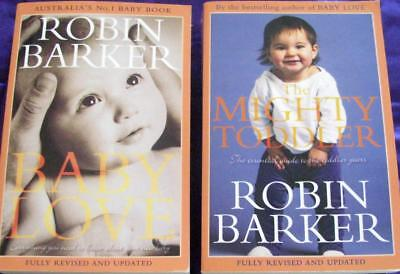 BABY LOVE  and  THE MIGHTY TODDLER   -   ROBIN BARKER  x  2 books