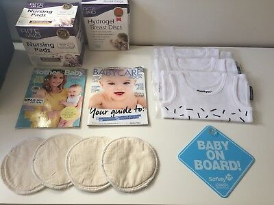 Baby Bulk Items Nursing Pads Baby On Board Sign Singlets Reusable Breast Pads