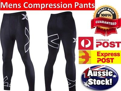 AU Mens Compression Base layer skin Tights, Pants, running, Gym, Yoga, shorts