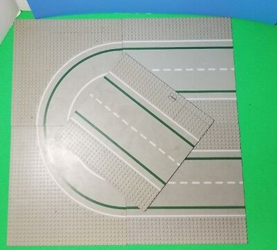 LEGO Base Plates 10x10 LOT of 5 Runway Gray Classic CITY Vintage 32x32 Studs