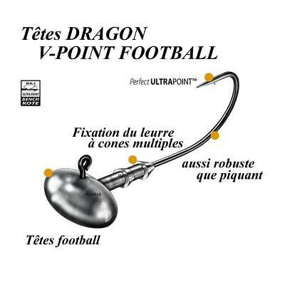 têtes plombees dragon v-point football