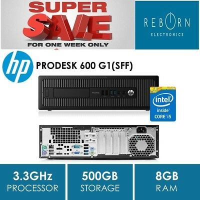 """$UPER $ALE"" - HP PRODESK 600 G1, i5-4590 (3.3GHz), 8GB, 500GB, NO OS, WIN 8 COA"