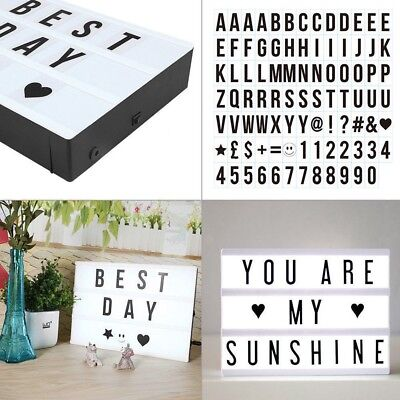 90PCS A4 Cinematic Light Letters Sign Box Symbols Message Board Alphabet DA