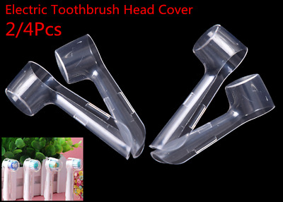 2/4pcs Electric Toothbrush Head Protective Cover Case Tooth Brush Heads Clear UK