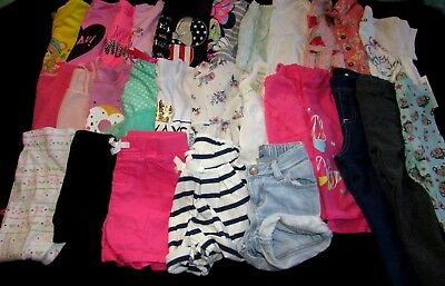 Toddler Baby Girls 18 24 2T Month Cotton Summer Spring Shorts Tops Clothes Lot