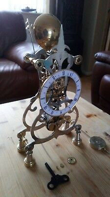 Fusee Skeleton Clock Spares Or Repair