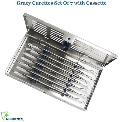 Gracey Curettes Periodontal Set Of 7 Dental Stainless Steel Surgical Instruments