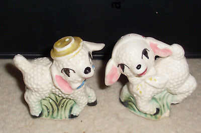 Adorable Antique Made In Japan Lamb Salt & Pepper Shakers