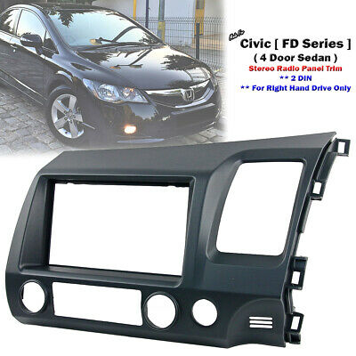 Stereo Radio Double 2 DIN Fascia Kit Dash Panel Trim For Honda Civic FD 2006-11