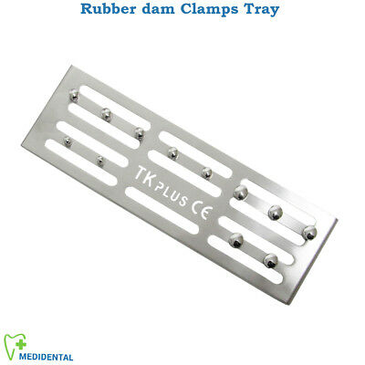 Dental Rubber Dam 12 Clamps Holding Tray Plate Diga di gomma Clamps Holder Tray