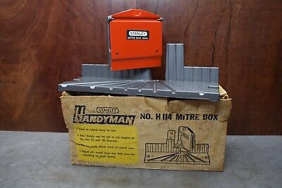 Vintage Stanley Mitre Box H114 Woodworking Old Tools