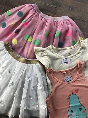 Girls Size 6 Tutu Tulle Skirts And Tops Bundle x4  Brand New Perfect Condition