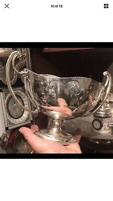 Antique Vintage Solid Silver Bowl Centerpiece Sheffield 1911 By Walker & hall