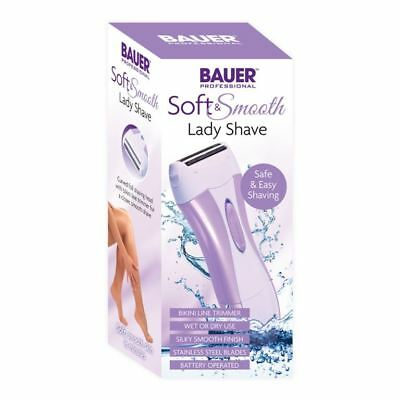 Bauer Soft And Smooth Lady Shave Shaver Battery operated