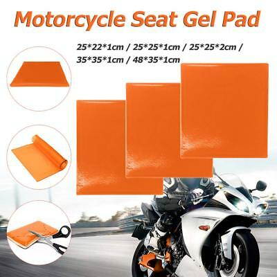 Motorcycle Seat Gel Pad Shock Absorption Mat Comfortable Soft Cushion(Orange)