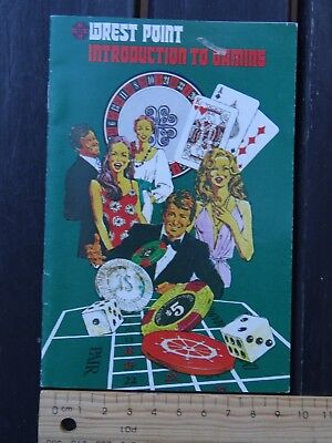 "1 x VINTAGE WRETS POINT CASINO BROCHURE ""INTRODUCTION TO GAMING"" BW4"