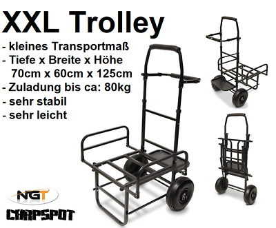 NEU XXL Trolley Barrow Transportwagen Carp Karpfen Transportkarre Tackle NGT ZUG
