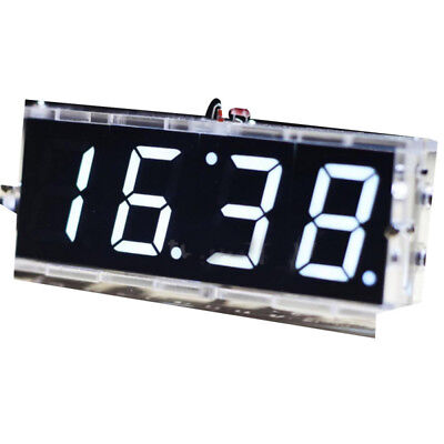 Electronics Clock LED DIY 4-digit Temperature Time Digital Clock Kit Single Chip