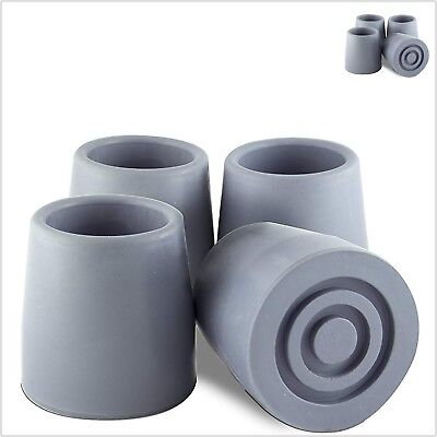 "Cane Tips 1"" Size Grey Rubber Premium Walking Quad Base for Anti Skid Set 4 PC"