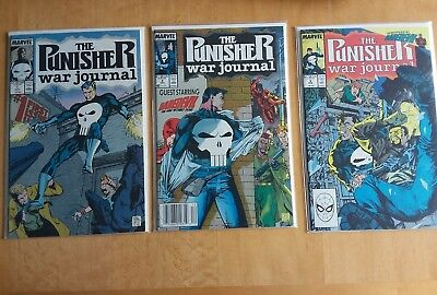 Punisher War Journal Lot Issues 1 to 12 All VF/NM Jim Lee Wolverine Daredevil