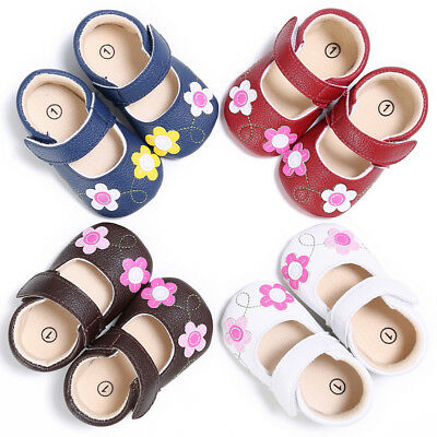 Toddler Baby Brown Soft Sole Leather Bowknot Cribe Sneakers Anti-slip Shoes