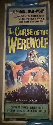 The Curse of the Werewolf 1961 US insert HAMMER Original .ROLLED POSTER .14 x 36