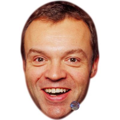Graham Norton (Young) Maske aus Pappe