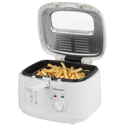 Fritteuse Fritöse Friteuse mit Geruchsfilter 2,5 Liter BESTRON ADF2000W 1800W