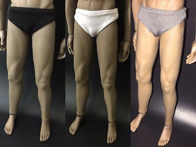 3 Colors 1:6 Scale Male Soldier Underwear Briefs Clothes Fit 12'' Body